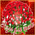 Букет роз в корзине