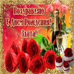 Букет роз в твой день рождения, Злата