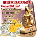 Денежная крыса символ 2020 года