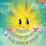 Доброго, солнечного настроения