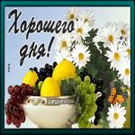 Картинка хорошего дня с фруктами