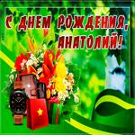 Картинка с днем рождения Анатолий с пожеланиями