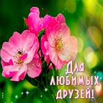 Картинка с розовыми цветами