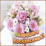 Картинка с воскресеньем с нежными цветами
