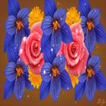 С цветами тебе