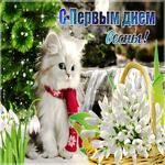 Красивая открытка C первым днем весны