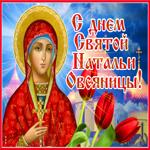 Красивая открытка День святой Натальи Овсяницы