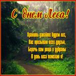 Красивая открытка с международным днем лесов