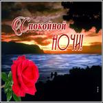 Красочная открытка спокойной ночи
