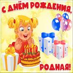 Креативная открытка с днем рождения девочке