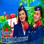 Мерцающая открытка День гражданской авиации
