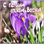 Мерцающая открытка с первым днем весны