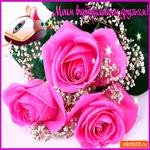 Моим виртуальным друзьям нежные розы