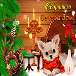 Новая открытка хорошего зимнего вечера