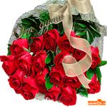 От души букет красных роз