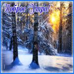 Открытка доброе утро зимний пейзаж