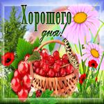 Открытка хорошего дня с ягодами