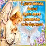 Открытка поздравление с днем ангела Антон