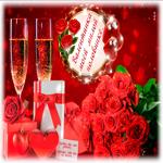 Открытка с днем Святого Валентина второй половинке
