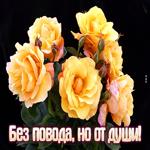 Открытка с цветами любимой