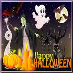 Открытка счастливого Хэллоуина