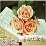 Открытка скучаю без тебя с розами