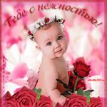 Плейкаст открытка с розами
