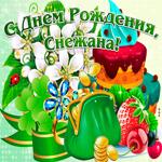 Поздравительная открытка с днем рождения Снежана