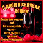 Поздравительная открытка с Днем Рождения, София