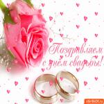Поздравляю с днём свадьбы