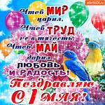 Поздравляю с 1 мая - Любви и радости желаю