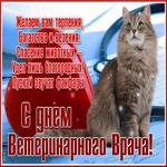 Праздничная открытка День ветеринарного работника