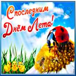 Прекрасная открытка Последний день лета