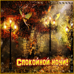Прекрасная открытка спокойной ночи с осенью