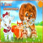 Прекрасная открытка Всемирный день животных