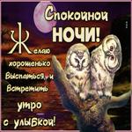 Превосходная открытка спокойной ночи