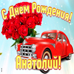Прикольная открытка с днем рождения Анатолий