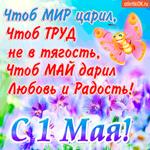 С 1 мая - Желаю мира и любви