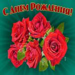 С днём Рождения, дарю тебе этот волшебный букет роз