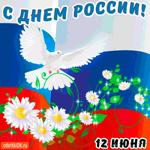 С Днём России 12 июня открытку вам дарю