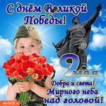 С днём Великой Победы - Мирного неба желаю