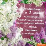 С майским праздником весны поздравляю