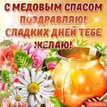 С Медовым Спасом поздравляю - Сладких дней тебе желаю