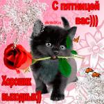 С пятницей вас и хороших Выходных ))