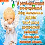 С Рождеством желаю много добра