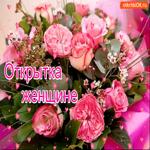 Открытка шикарной женщине розовые розы