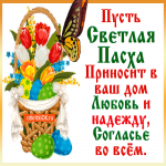 Светлой Пасхи поздравления