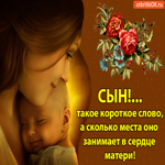 Сын - Такое короткое слово, а сколько места оно занимает в сердце матери