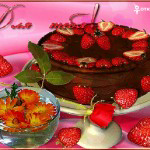 Торт с клубникой  для тебя