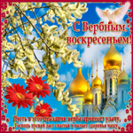 Видео открытка с вербным воскресеньем